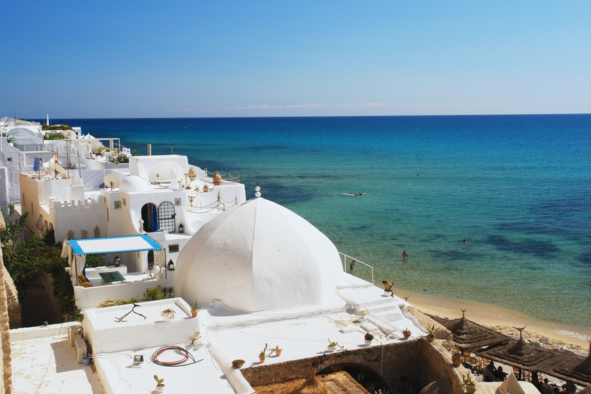 View of the medina in Hammamet, Tunisia